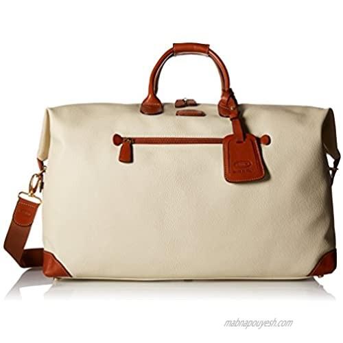 "Bric's USA Luggage Model: FIRENZE |Size: 22"" cargo duffle | Color: CREAM"