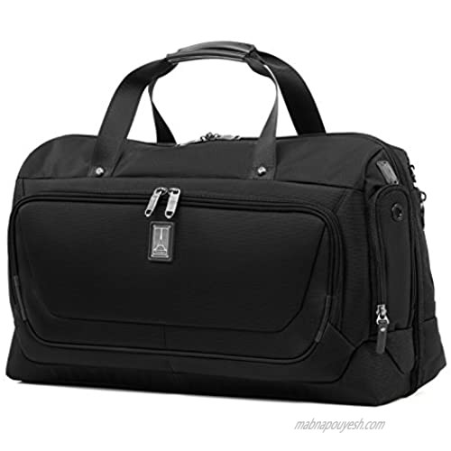 Travelpro Crew 11-Smart Carry-On Suiter Duffel Bag with USB Port  Black  22-Inch