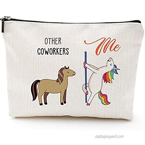 Coworker Gifts for Women - Funny Birthday  Going Away  Coworker Leaving Gifts Retirement Gifts Colleagues   Friends  Work Bestie  BFF - Makeup Bag
