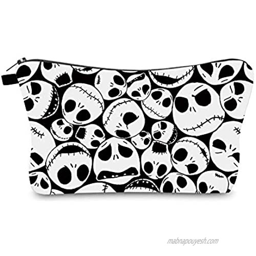 Nightmare Before Christmas Cosmetic Bag for Women  Adorable Roomy Makeup Bags Travel Toiletry Bag Accessories Organizer