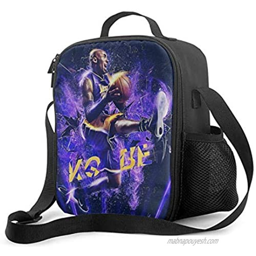 CAPTIVATE HEART Kobe-bry-ant Women Lady Lunch Bag Kobe-bry-ant  Fashion Cooler Box for Work Camping Insulated Lunch Box freezable Dinner Tote Bag with Zipper.