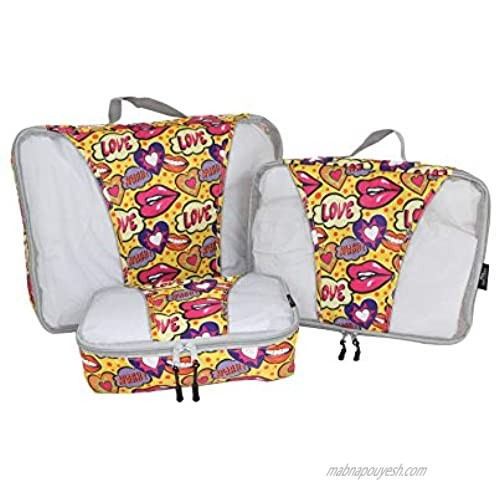 Mia Toro 3 Piece Packing Cubes  Multi  One Size