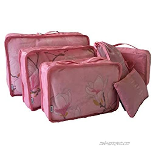 Packing Cubes Travel Organizer Bag 6 Pieces Suitcase Organized The Art of Tidy and Orderly Luggage Packing