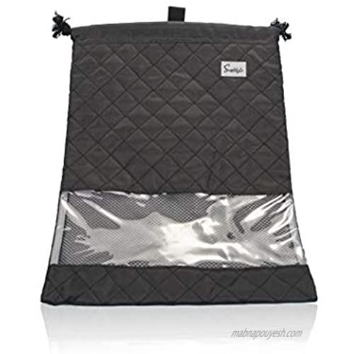 Simplily Co. Packing Compact Travel Shoe Laundry Drawstring Organizer Bag (Black)