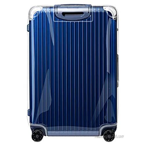 Sunikoo Luggage Cover for HYBRID Suitcase Clear PVC Protector Transparent Protective Case with Gray Zipper 883.56 Cabin Plus