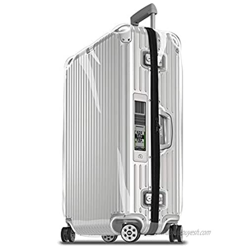 Sunikoo Luggage Protector Suitcase Clear PVC Transparent Cover Case With Chain Fits Topas MULTIWHEEL Series (For Topas 92363/92463)