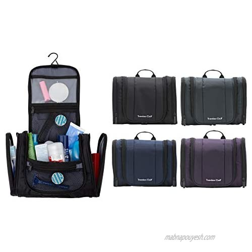 """Travelers Club 11"""" Toiletry Kit Travel Accessory  Black  11 Inch"""