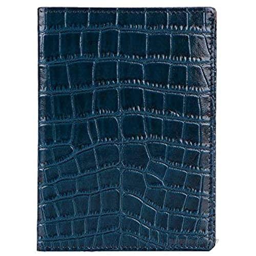 OROM Passport Holder bonded leather handmade (Blue)