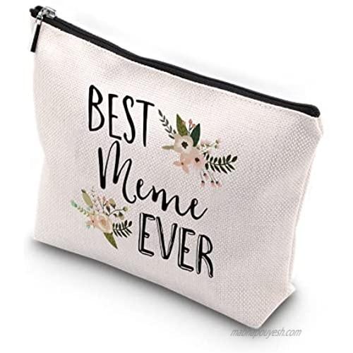 WCGXKO Best Meme Ever Grandma Gift Meme Gift Zipper Makeup Bags Travel Waterproof Toiletry Bag Accessories (Best Meme)