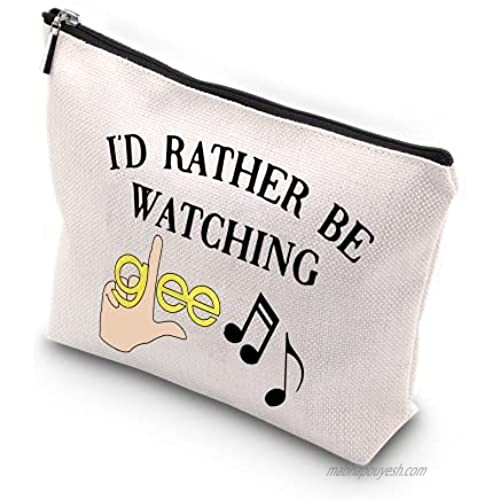 WCGXKO Musical Comedy TV Show Inspired Zipper Makeup Bag Travel Bag for Mom Sister Best Friend Wife Aunt (watching glee)
