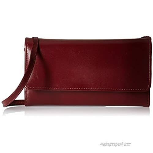 Claire Chase Women's Tri-fold Crossbody Wallet  Cognac  One Size