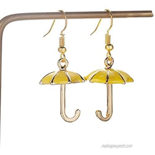 BlingSoul Umbrella Earrings for Women - Weather Dangle Jewelry for Her