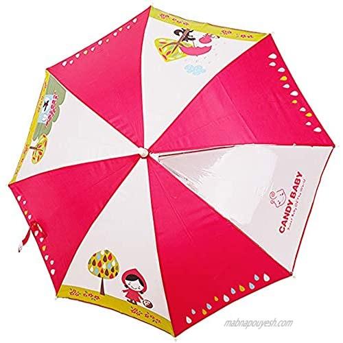 Candy-Baby kids Boys Girls Umbrella/Umbrella for children (one  red hood)