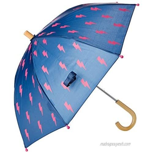 Hatley Girls' Printed Umbrella  Glitzy Bolts  One Size