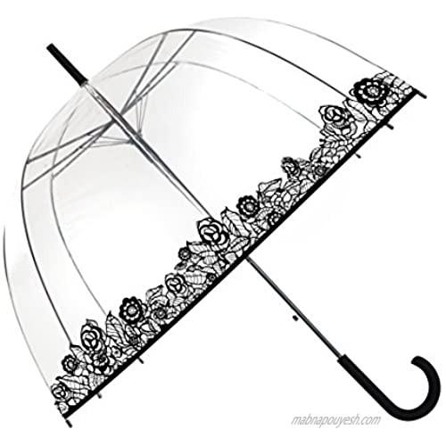 SMATI Stick Clear Windproof Umbrella - Birdcage Bubble See Through