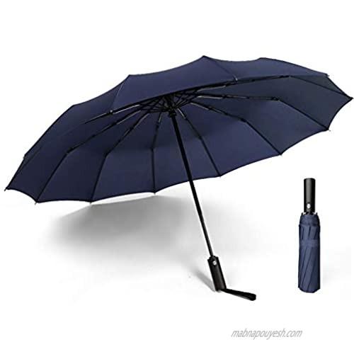 12 Ribs Windproof travel umbrella.Auto open close large canopy umbrella.compact protable automatic open close folding umbrella