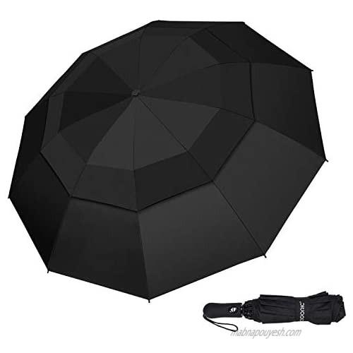 Compact Umbrella  Umbrellas for Rain Sun Small Folding Travel Mini Windproof Umbrella Travel Essentials Portable - Automatic Open/Close -Black