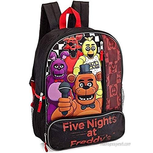 "Five Night At Freddy""s FNAF 3D 16"" Backpack"