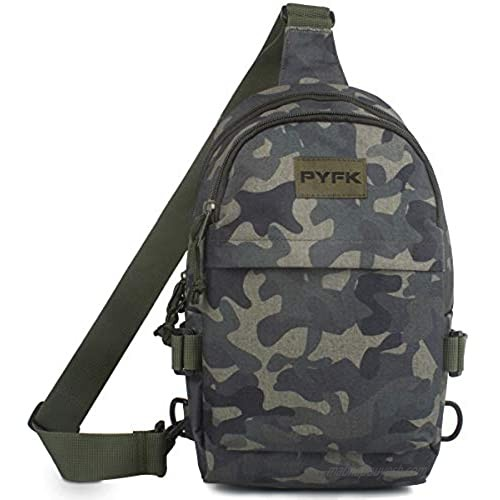 PYFK Camo Sling Backpack for Men  Small Crossbody Shoulder Sling Bag  Mini Backpack for Outdoor Traveling Hiking Cycling Gym