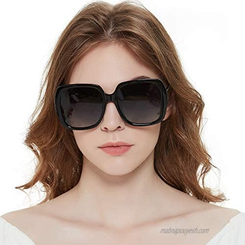MuJaJa Oversized Square Suglasses for Women Polarized  Fashion Vintage Classic Shades for Outdoor UV Protection