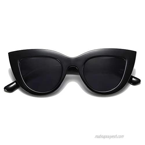 SOJOS Retro Vintage Cateye Sunglasses for Women UV400 Mirrored Lens SJ2939