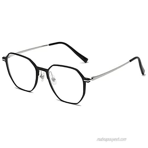 Blue Light Blocking Eyeglasses Men Women│Computer Game Glasses Non Prescription Anti Eye Eyestrain Aluminum Magnesium Frame│CEE CLER(011)