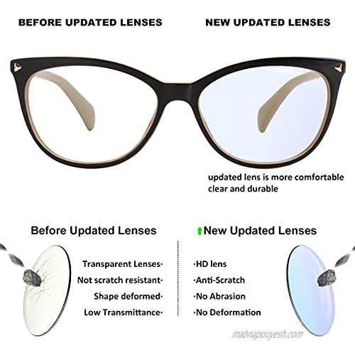 MEETSUN Non Prescription Glasses Frames For Women,Retro Cateye Fake Eyeglasses HD Clear Lens