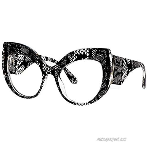 Voogueme Stylish Thick Cat Eye Blue Light Blocking Glasses for Women Black  Block UV Blue Light  Anti Eyestrain Eyeglasses Effie VFP0183-01