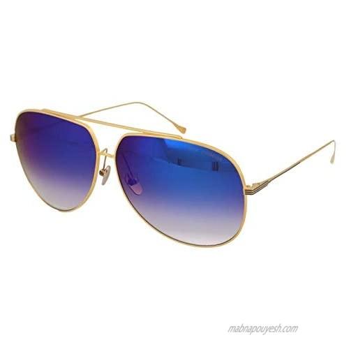 Sunglasses Dita CONDOR 21005 J-18K 18k Gold w/Dark Grey to Clear-Blue Mirror-AR  63mm