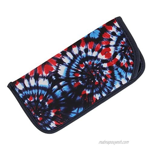 Soft Fabric Slip In Eyeglass Case For Women & Men  Assorted Colorful Designs