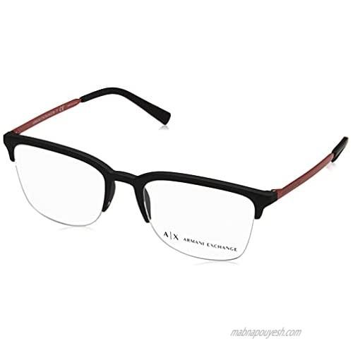 AX Armani Exchange Men's Ax3066 Rectangular Prescription Eyeglass Frames