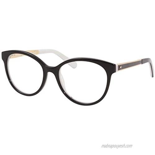 Eyeglasses Kate Spade CAYLEN 0S0T Black White / 00 Demo Lens