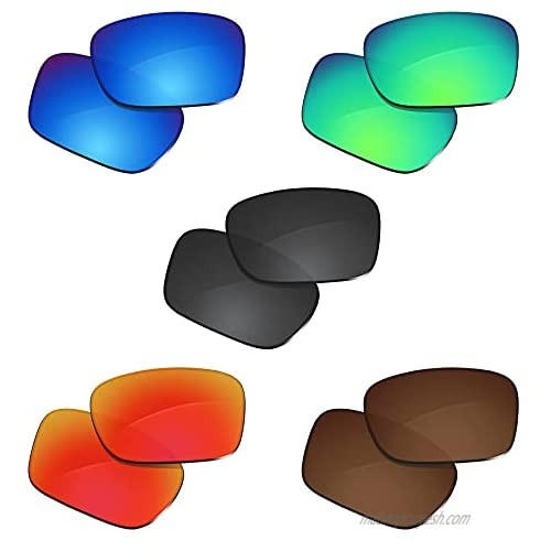 Glintbay 5 Pairs Replacement Lenses for Spy Optic Helm Pack-BBRGB