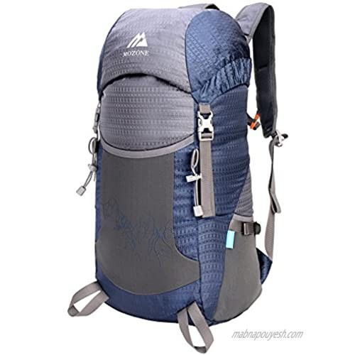 Mozone Large 45l Lightweight Travel Backpack/foldable & Packable Hiking Daypack (Navy Blue)
