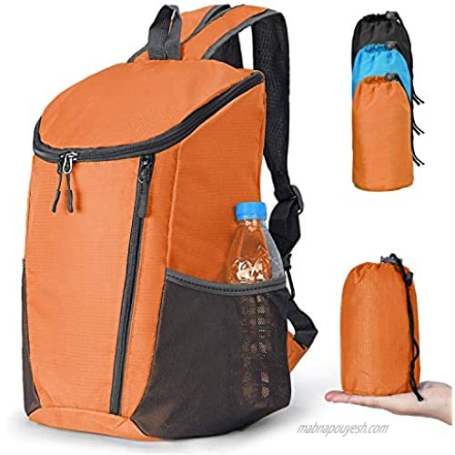 SUKCESO Ultra Lightweight Packable Hiking Daypack. Water Resistant Foldable Backpack for Men Women Outdoor Travel Camping