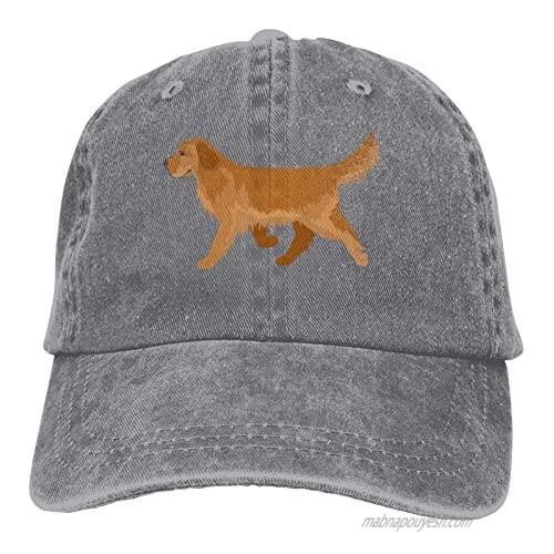 Denim Cap Cute Golden Retriever Baseball Dad Cap Classic Adjustable Casual Sports for Men Women Hats
