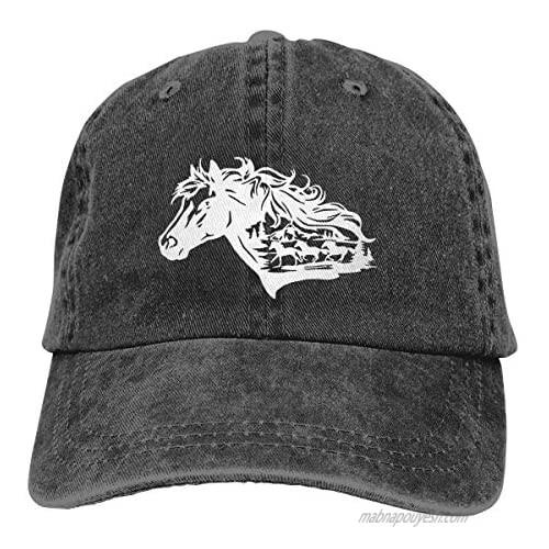 Waldeal Women's Horse Lover Rodeo Vintage Washed Hat Adjustable Baseball Cap