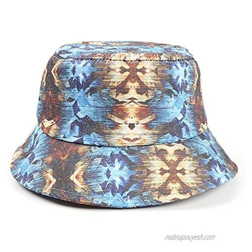 Sivilady Packable Tie Dye Print Bucket Hat Unisex Summer Fisherman Cap Sun Hat