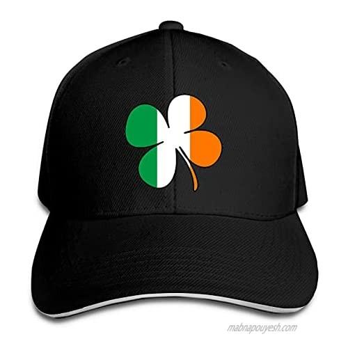 Ireland Shamrock Clover Flag Hat Funny Neutral Printing Truck Driver Cap Cowboy Hat Adjustable Skullcap Dad Hat for Men and Women