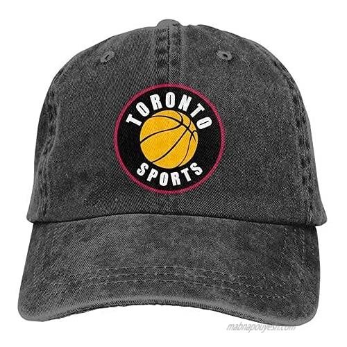 Toronto-Sports Vintage Hat Classic Washed 100% Cotton Black Adjustable Cowboy hat for Men and Women