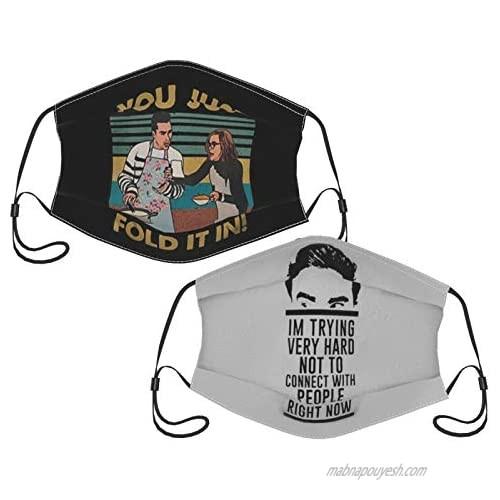 2 Pcs Sc-Hitts Cree-K Merch Face Mask Unisex Breathable Mouth Guard Bandanas Neck Gaiter Cotton Fabric Cloth 3 Layer Funny Anime Aesthetics Face Cover Balaclava