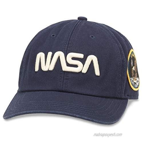 AMERICAN NEEDLE NASA Hoover Baseball Dad Buckle Strap Hat (44820A-NASA-NAVY)