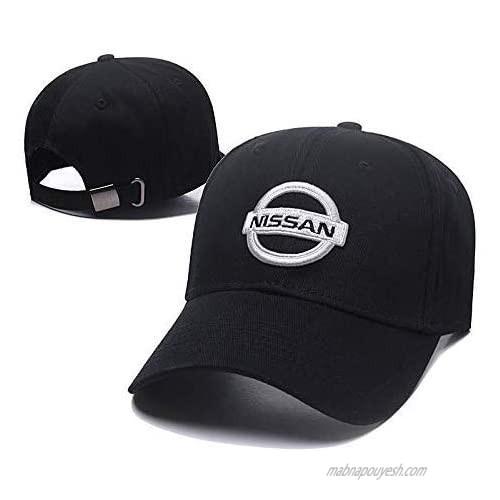 ANAISI Auto Sport Car Logo Adjustable Baseball Cap Unisex Hat Travel Cap Car Racing Motor Hat for for Man Women - Black