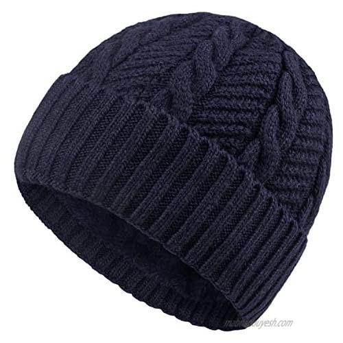 Chalier Winter Hats for Men Wool Knit Slouchy Beanie Hats Warm Baggy Skull Cap