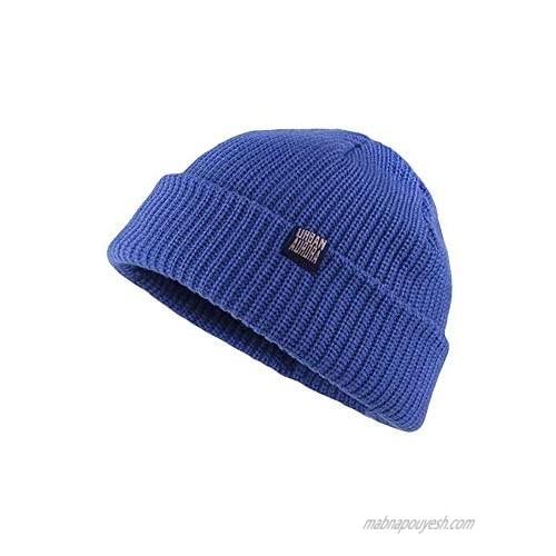 Croogo Cuffed Rib Knit Watch Hat Cotton Fisherman Beanie Hat for Mem Women Short Cuff Knitted Hat Winter Warm Skullcap
