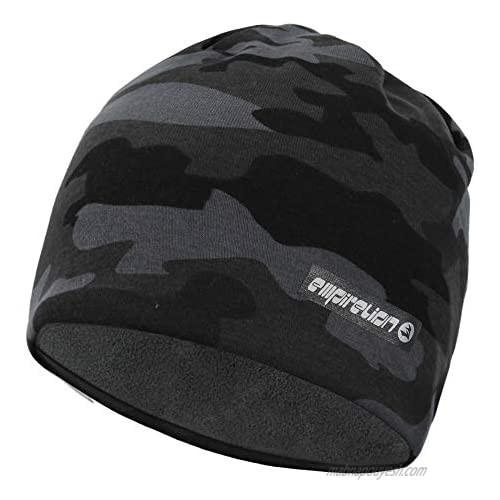 "EMPIRELION 9"" Warm Softshell Beanies  Thermal Fleece Lining Skull Cap for Winter Outdoor Spots"