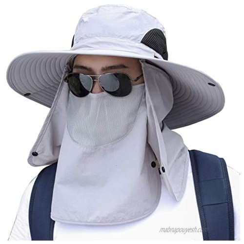 Unisex Sun Protection Hat Face Shield Full Coverage Neck Flap Cap Garden Lawn Work Sports Hiking Hats