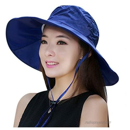 Women Summer Rain Hat UV UPF 50 Sun Protection Wide Brim Hat Sun Hat Foldable Bucket Hat