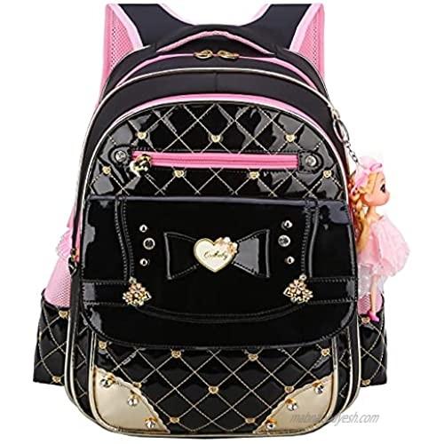Backpack for Girls Waterproof Kids Backpack Cute School Bag for Elementary Princess Bookbag