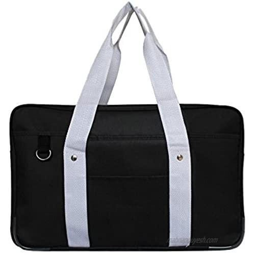 MyLifeUNIT Japanese School Bag  Horizontal Anime High School Bag for Cosplay (Black)